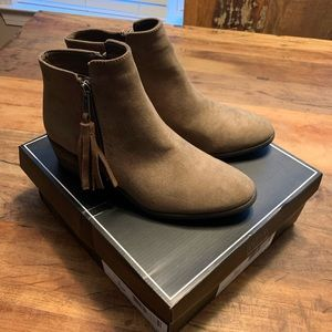 Mia Alex Taupe Ankle Nova Suede Boots